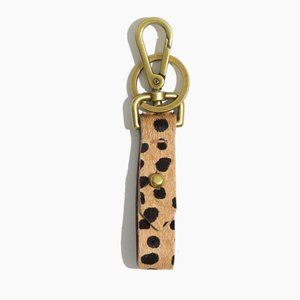 Madewell Tan Printed Calf Hair Front Door Key Fob